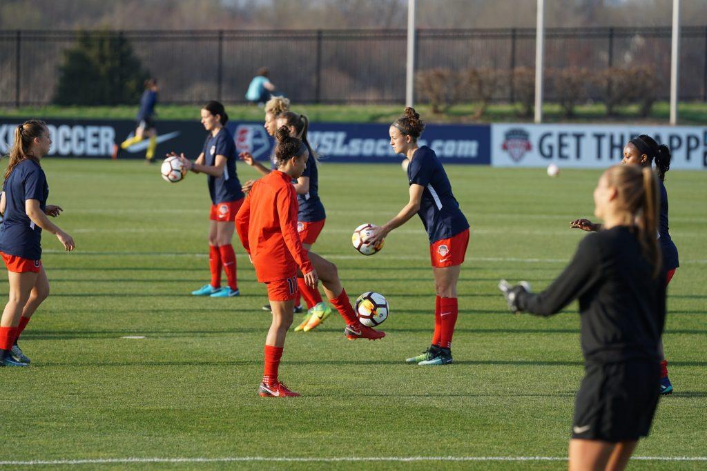 training-football-woman